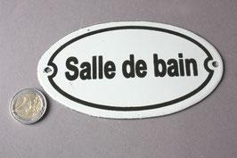 Salle de bain französisches Schild für Badezimmer / French door sign bathroom enamel