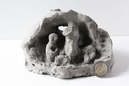 Krippenfigur Ton handmade Vintage / Nativity Figure