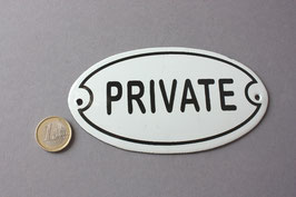 Private Emaille Schild nostalgisch - door sign enamel