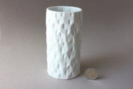 Thomas | weiße Biskuitvase Op-Art  | Vintage bisque vase | white flower vase 60s, 70s | made in Germany