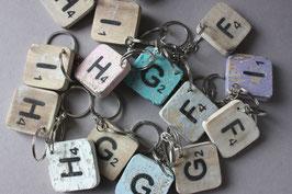 Schlüsselanhänger Buchstabe Scrabble | key ring letter alphabet