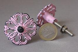 1 rosa Möbelknopf romantisch pastell / Shabby cabinet door pull pink