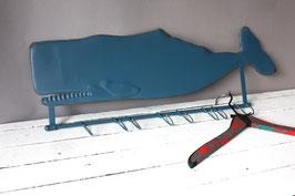 Wal Garderobe blau maritim / rustic whale coat rack blue