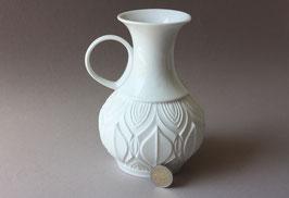 Royal Porzellan Bavaria KPM | weiße Biskuitvase Op-Art  | Vintage bisque vase | white flower vase 60s, 70s | made in Germany