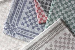Halbleinen Geschirrtuch Schachbrett | Handtuch Karo | Erika Vaitkute | Linen Tea Towel Chessboard Pattern