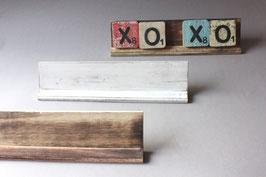 1 Regal Ständer für Scrabble Buchstaben Fliesen   shelf for Scrabble letters
