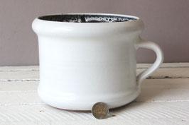 Weißer Blumentopf Keramik Vintage / white ceramic flowerpot / gemarkt mit HGN