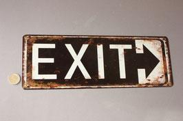 Exit Schild Türschild / door sign metal