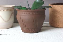 Ethno Übertopf Vintage braun Keramik / Boho Boheme flowerpot ceramic