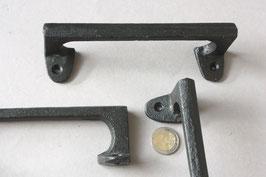 1 langer, schlichter Griff schwarz rustikal   straight handle for cabinets   long door puller rustic black