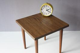 Quadratischer Blumenhocker Holzoptik | Wooden Optic Plant Stand Vintage