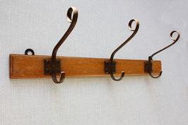 Rustikale Holz Garderobe Vintage 3 Haken / coat rack wooden wall hooks