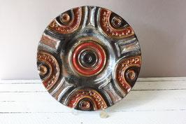 Carstens Keramik großer Vintage Wandteller West Germany / modernist wall plaque plate abstract decor ceramic 60s 70s