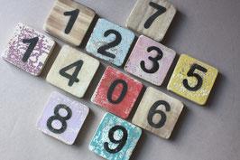 1 Zahl 6cm Scrabble / number wooden tile