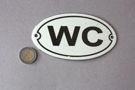 WC Toilet Emaille Schild Vintage Stil / lavatory door sign enamel