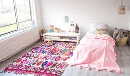 Kids Pompom Blanket - Pink