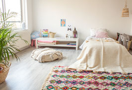 Kids Pompom Blanket - Off white