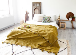 Pompom Blanket 'Golden Dream'