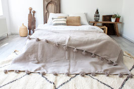 Pompom Blanket 'Pebble Grey' - SOLD OUT