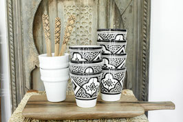 (Temporarily) Out of Stock- Coffee Cups - Set of two - Black and White Pattern