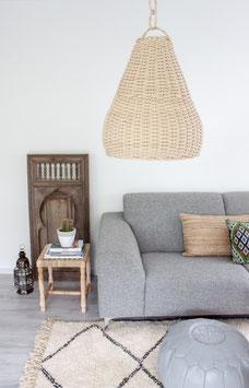 Wicker Pendant Lamp 'Bell'