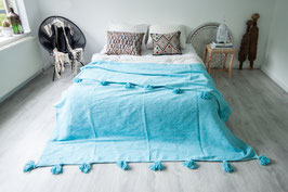 SOLD OUT - Pompom Blanket 'Turquoise'