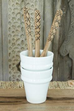 Single Coffee Cup - 'Beldi' White