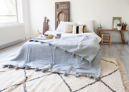 SOLD OUT - Pompom Blanket 'Silver Star'