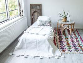 Kids Pompom Blanket - White