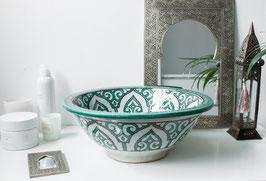 Handmade Washbasin 'Mediterranean Sea' - Medium