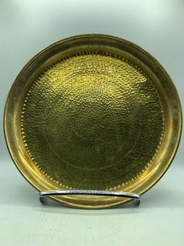 Tablett-Vintage Beistelltisch aus Messing / allein oder mit Untergestell aus Zedernholz (Bestell-ID 61012)