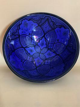 Salatschüssel indigoblau aus Safi zum Servieren oder als Wanddekoration  (Bestell-ID 31302)