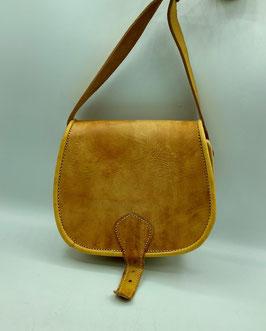 Handtasche aus Leder senfgelb klein (Bestell-ID 40007a)