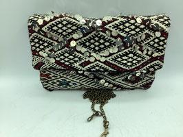 Clutch / Pochette aus edlem Vintage-Hochzeitskelim (Bestell-ID 40022)