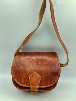 Handtasche aus Leder dunkelbraun S (Bestell-ID 40007b)