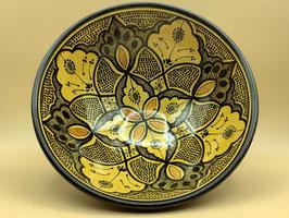 Salatschüssel safrangelb aus Safi zum Servieren oder als Wanddekoration (Bestell-ID 31301)