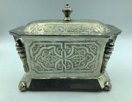 Vintage Zuckerdose oder Pfefferminzbehälter aus dem Hohen Atlas / Handarbeit aus  Marokko (Bestell-ID 34008)