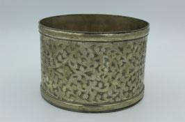 Vintage-Schale aus Messing: Handarbeit mit Blumenranken (Bestell-ID 34003)