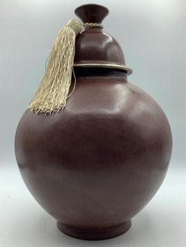 Tadelakt-Gefäß / Behältnis / orientalische Amphore in braun matt glänzend in Größe M und L (Bestell-ID 32282)