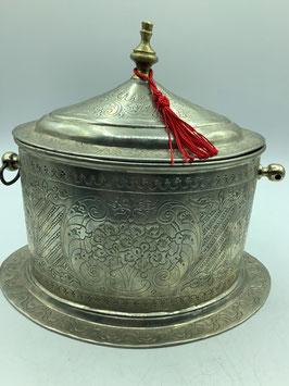Vintage Zuckerdose oder Pfefferminzbehälter aus dem Hohen Atlas / Handarbeit aus  Marokko (Bestell-ID 34005)