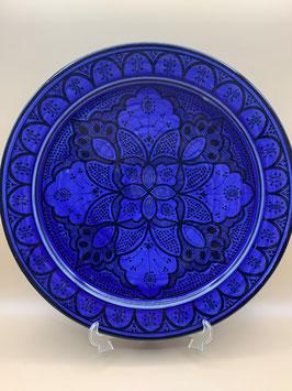 Couscousschüssel - Couscousteller - Wanddeko indigoblau aus Safi  (Bestell-ID 31304)