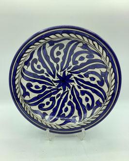 tiefer Teller / Wandteller dunkelblau M (Bestell-ID 31029b)