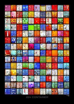 "Kunstdruck ""154 Container"" Hochformat"