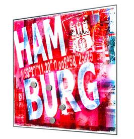Glas Magnet Pinnwand 40x40cm