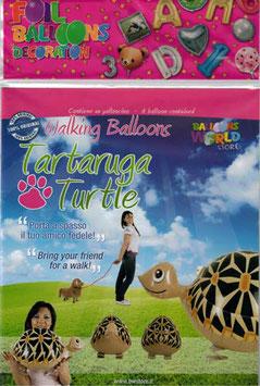 Airwalker: Tier-Luftballon Schildkröte unbefüllt