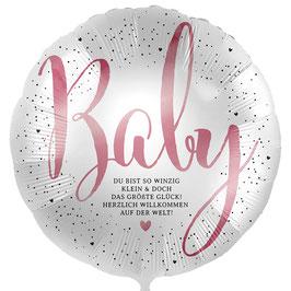 """Folienballon Baby Mädchen: """"Du bist so winzig klein..."""""""