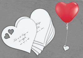 Herzkärtchen zum Anhängen