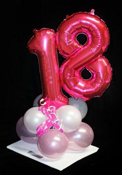 Geburtstagszahl mit Fuß