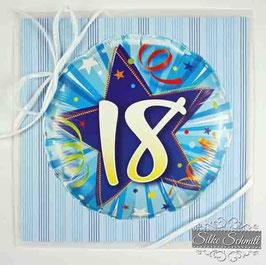 Glückwunsch-Karte Geburtstagszahl