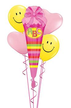 Luftballon Bouquet Schulanfang: Schultüte